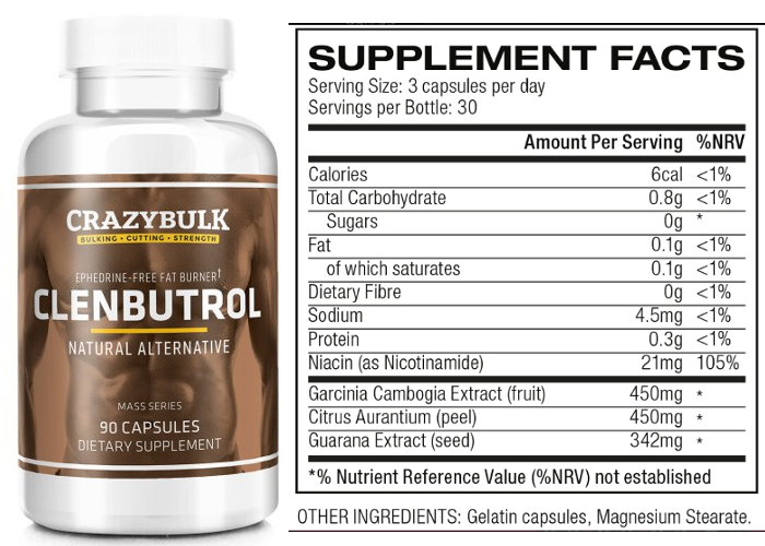 clenbuterol ingredients